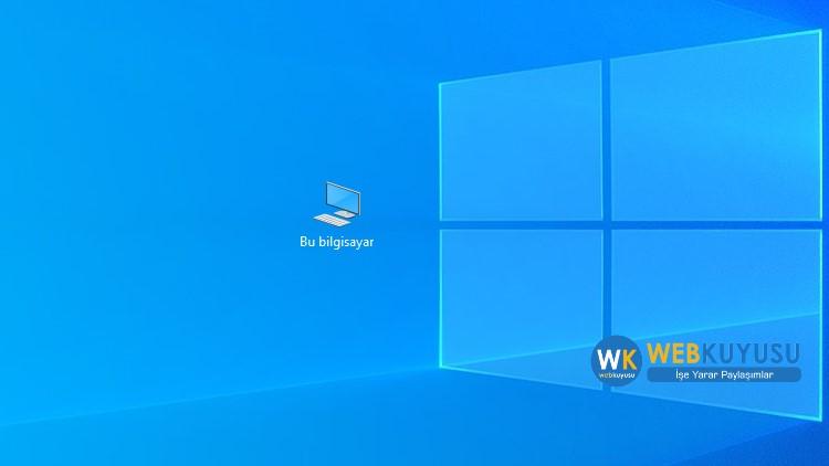 windows 10 bilgisayarım simgesi