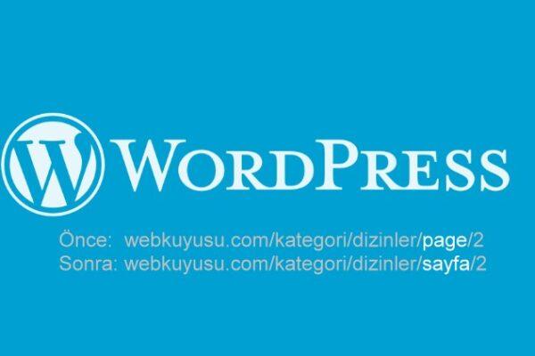 wordpress page yazısını değiştirme