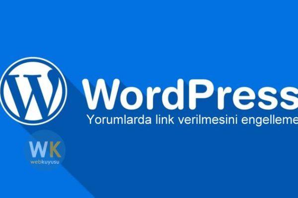 wordpress yorumlarda web sitesi kaldırma